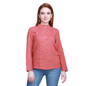 Madame Women Rust Textile Top