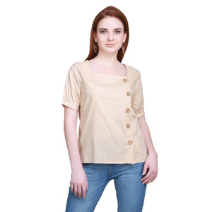 Madame Women Beige Textile Top