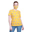 Madame Women Mustard Tshirt & Mask Matching Combo(Don't Panic)