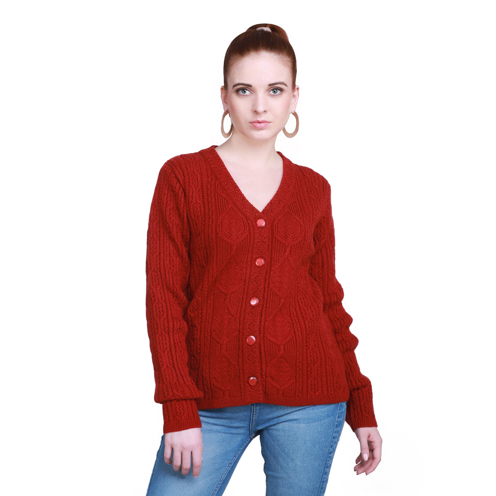 Madame Women Rust Cardigans
