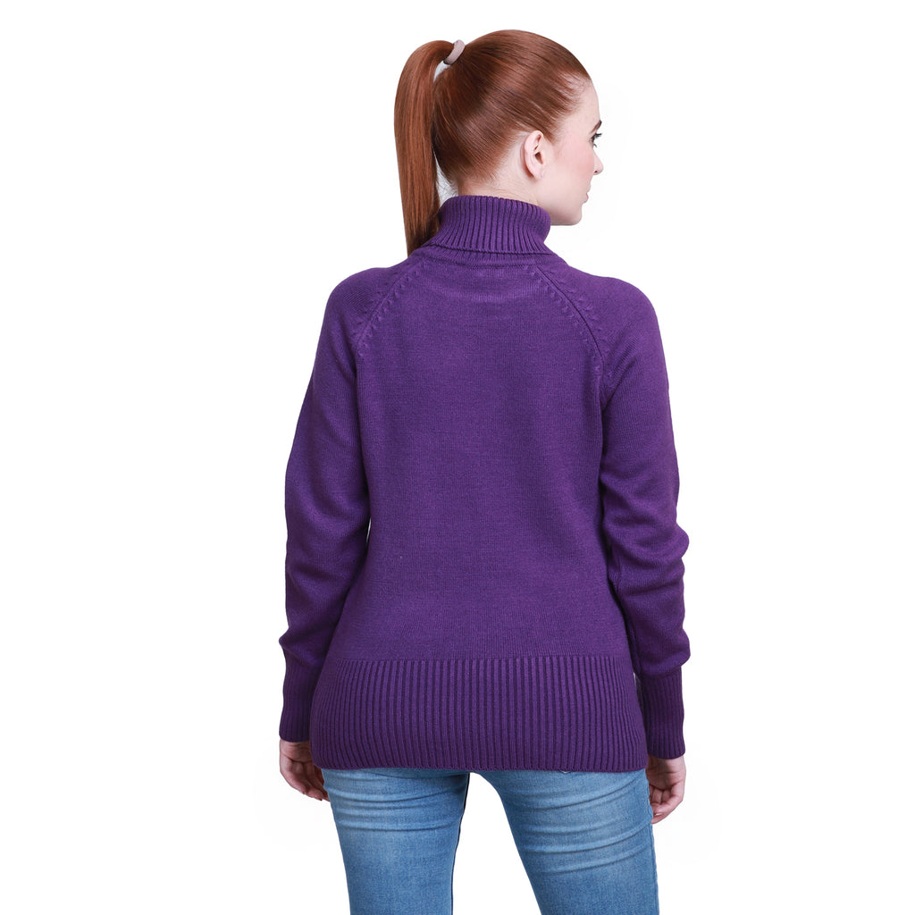 Madame Lavender Color Sweater For Women