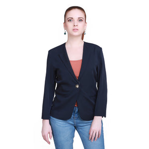 Madame Women Navy Blazer