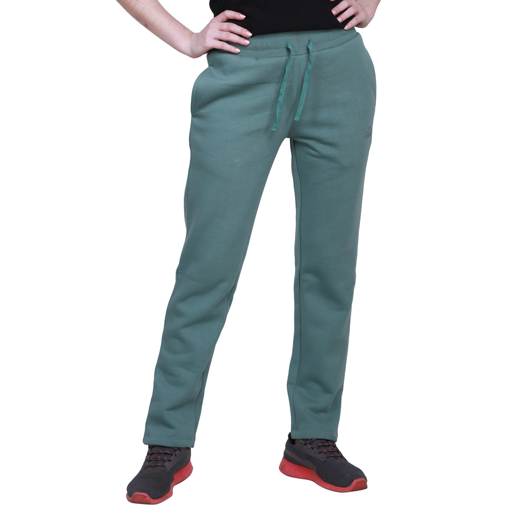 Madame Women Olive Track Bottoms