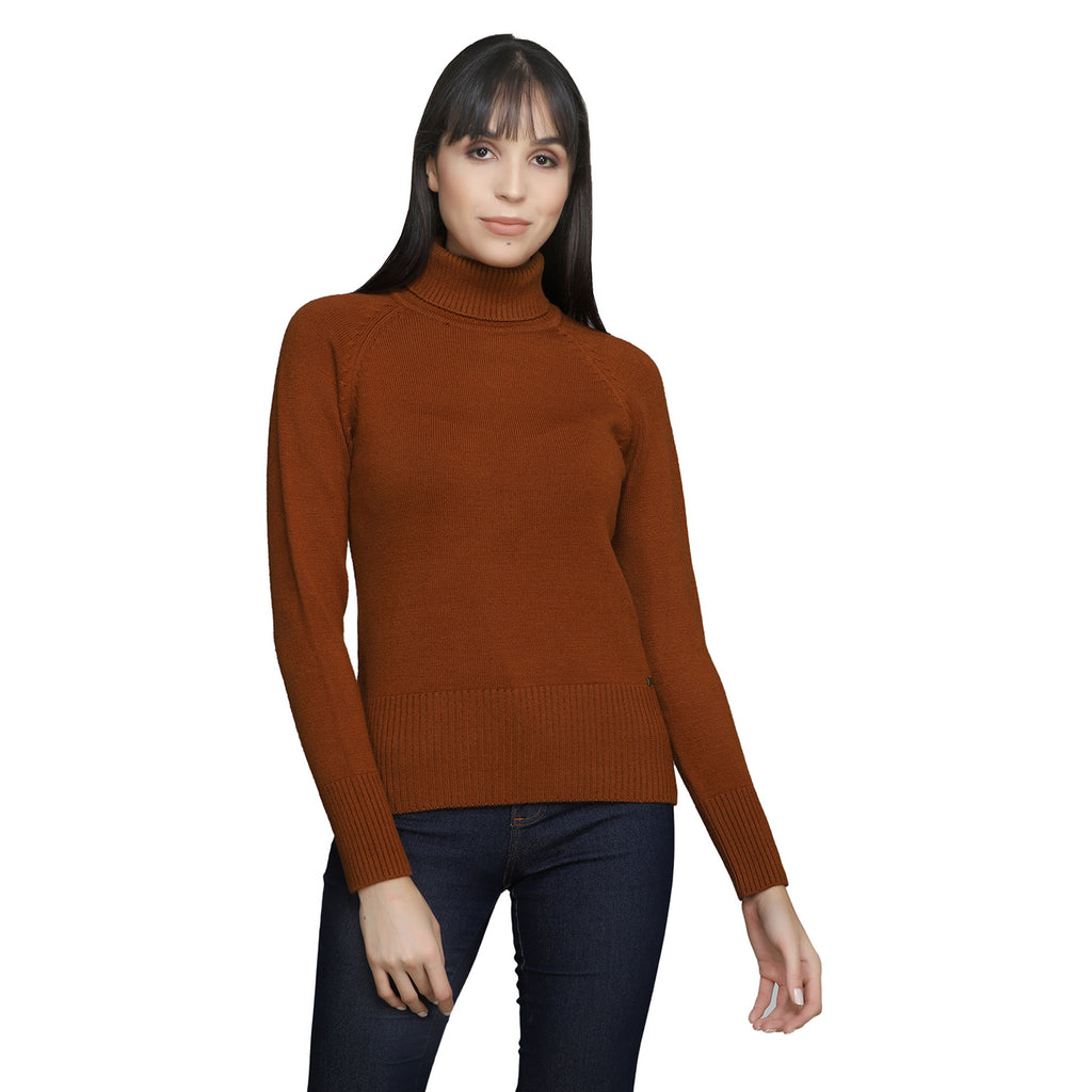 Madame Tan Color Sweater For Women