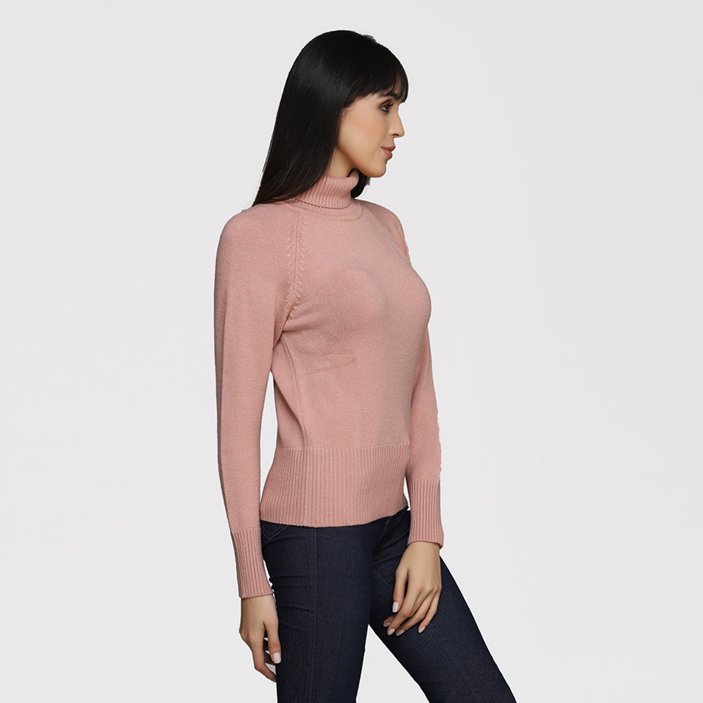 Madame Peach Color Sweater For Women