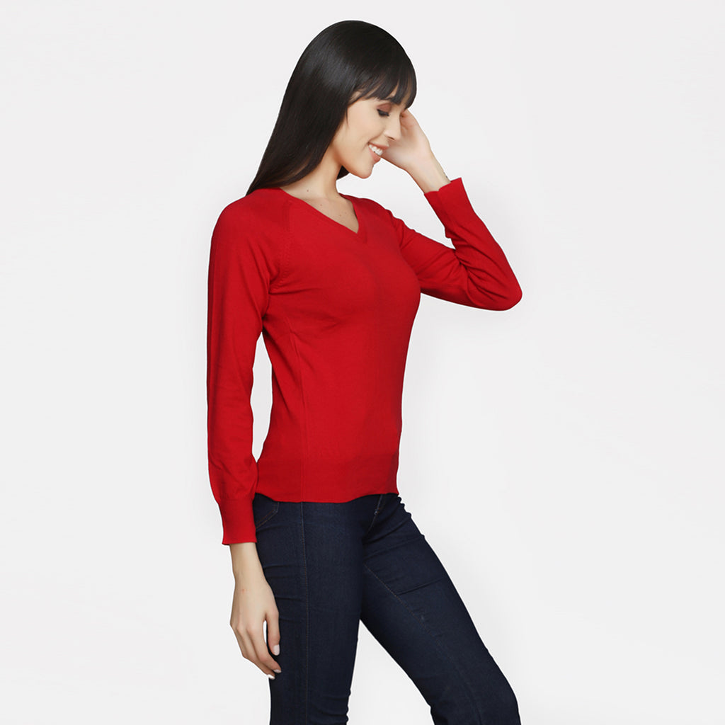 Madame Women Red Sweater
