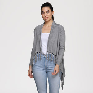 Madame Women Grey Shrug