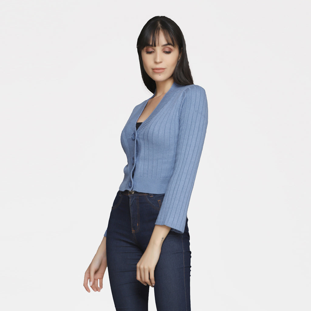 Madame Women Blue Sweater