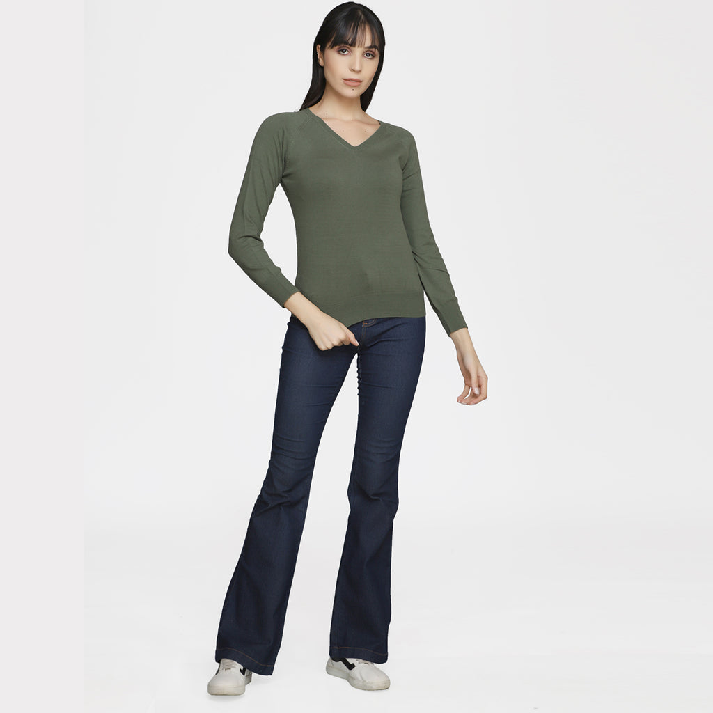 Madame Women Olive Sweater