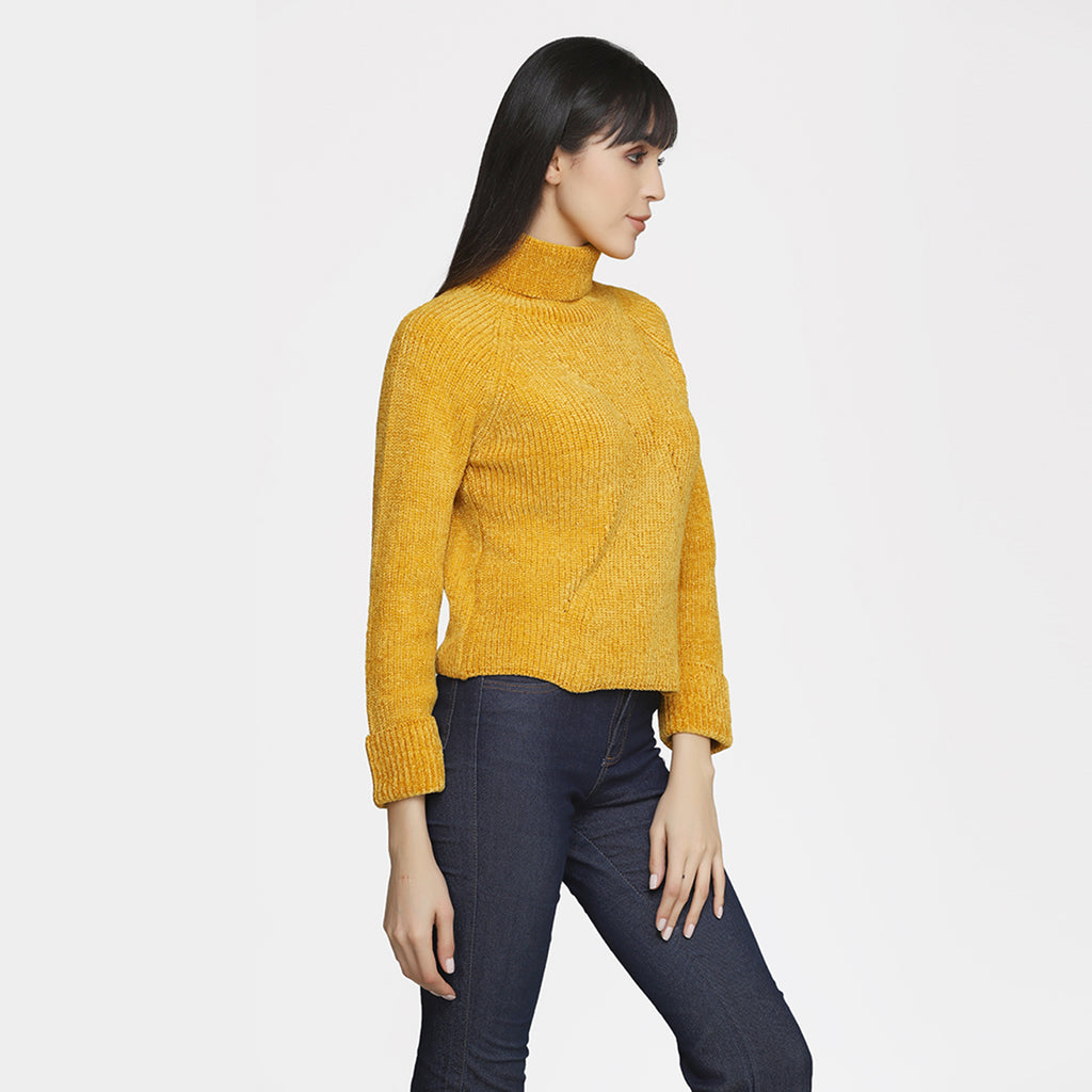 Madame Women Mustard Sweater