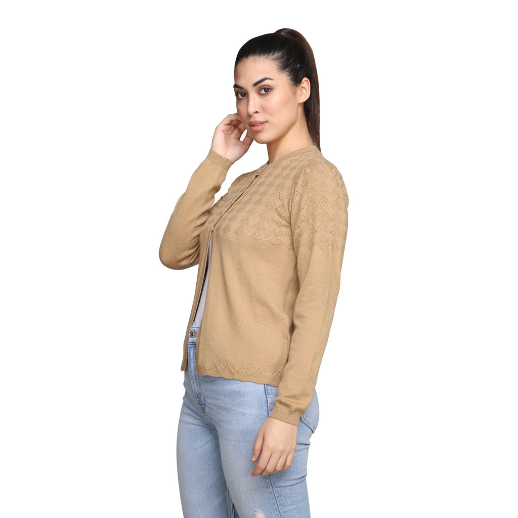 MADAME CAMEL Color Cardigan For Womens