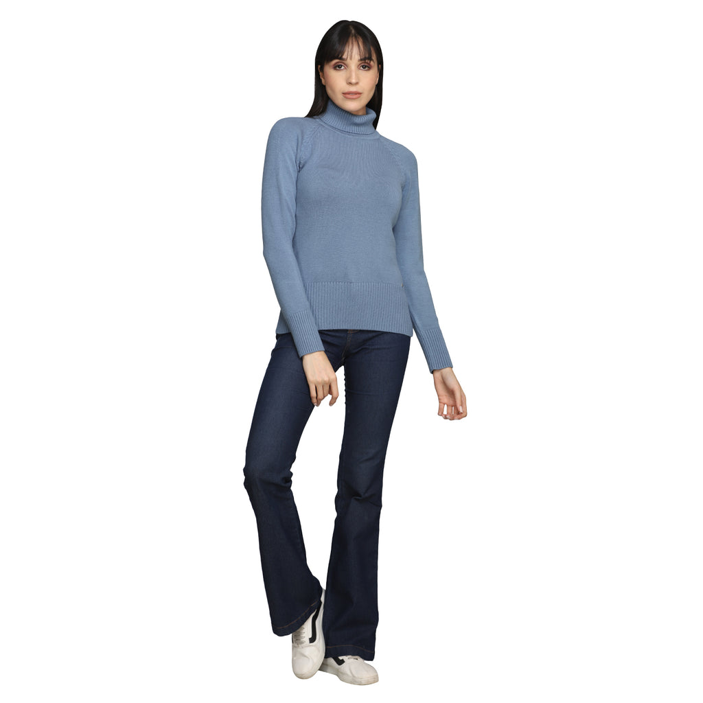 Madame Royal Blue Color Sweater For Women