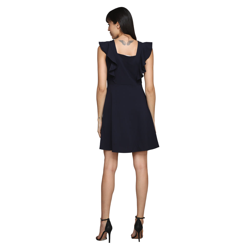 Madame Women Navy Dress