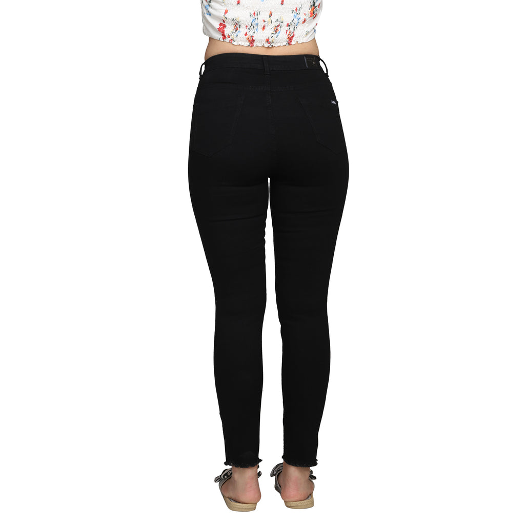 Madame Women Black Denim Jeans