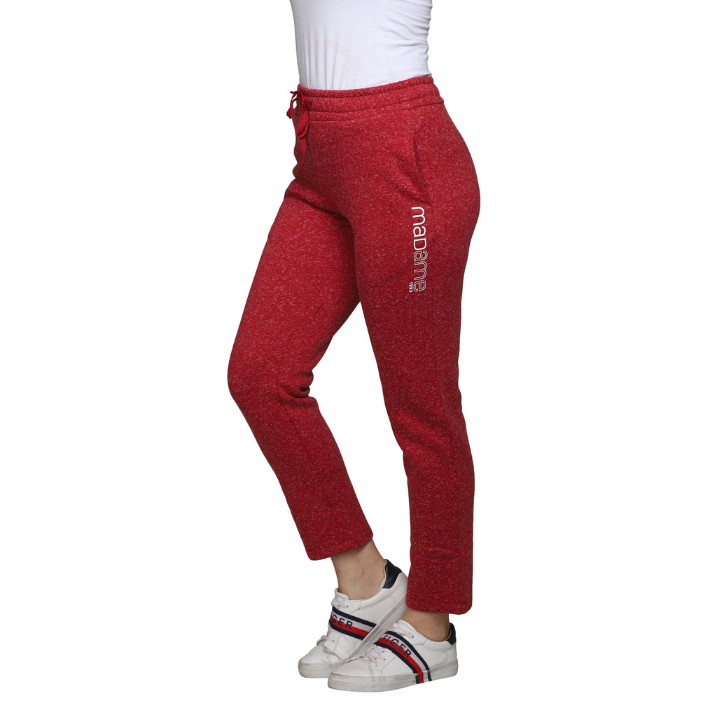 Madame Women Red Track Bottoms