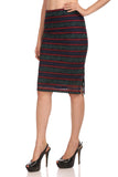 Madame Women Navy Blue Skirt