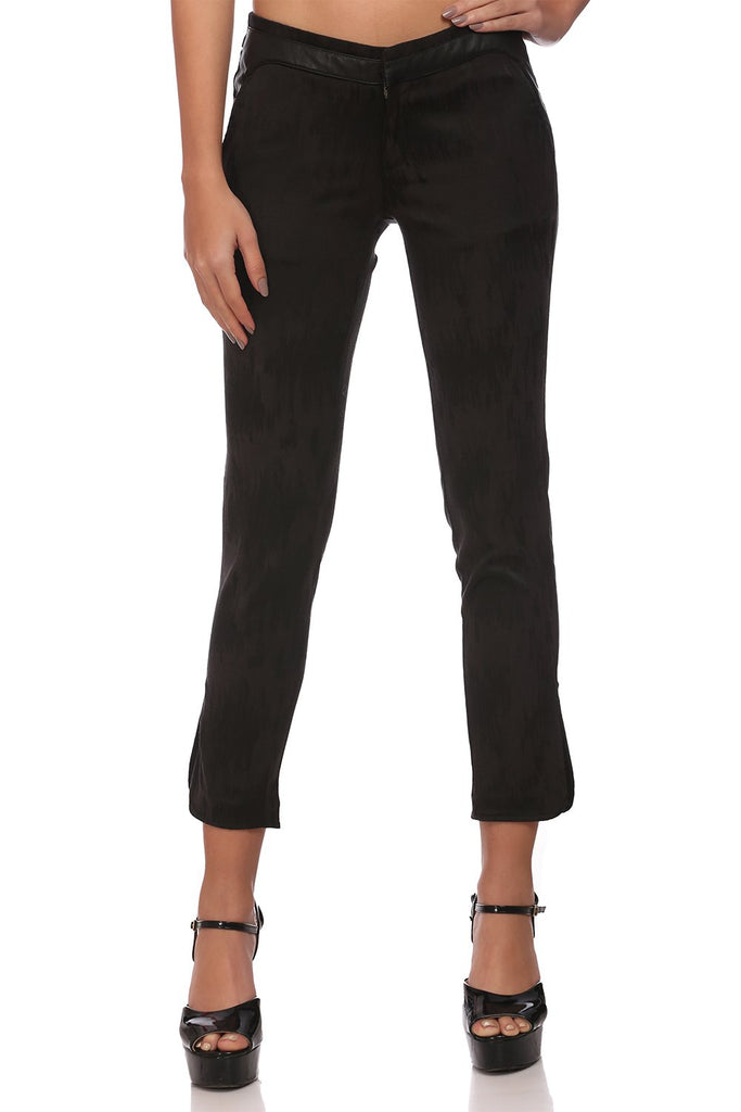 Madame Women Black Trousers