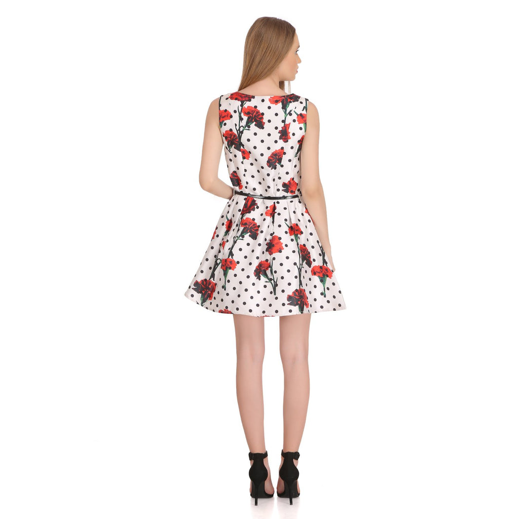 Madame Women Off White Dress