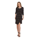 Madame Women Black Printed  Dress