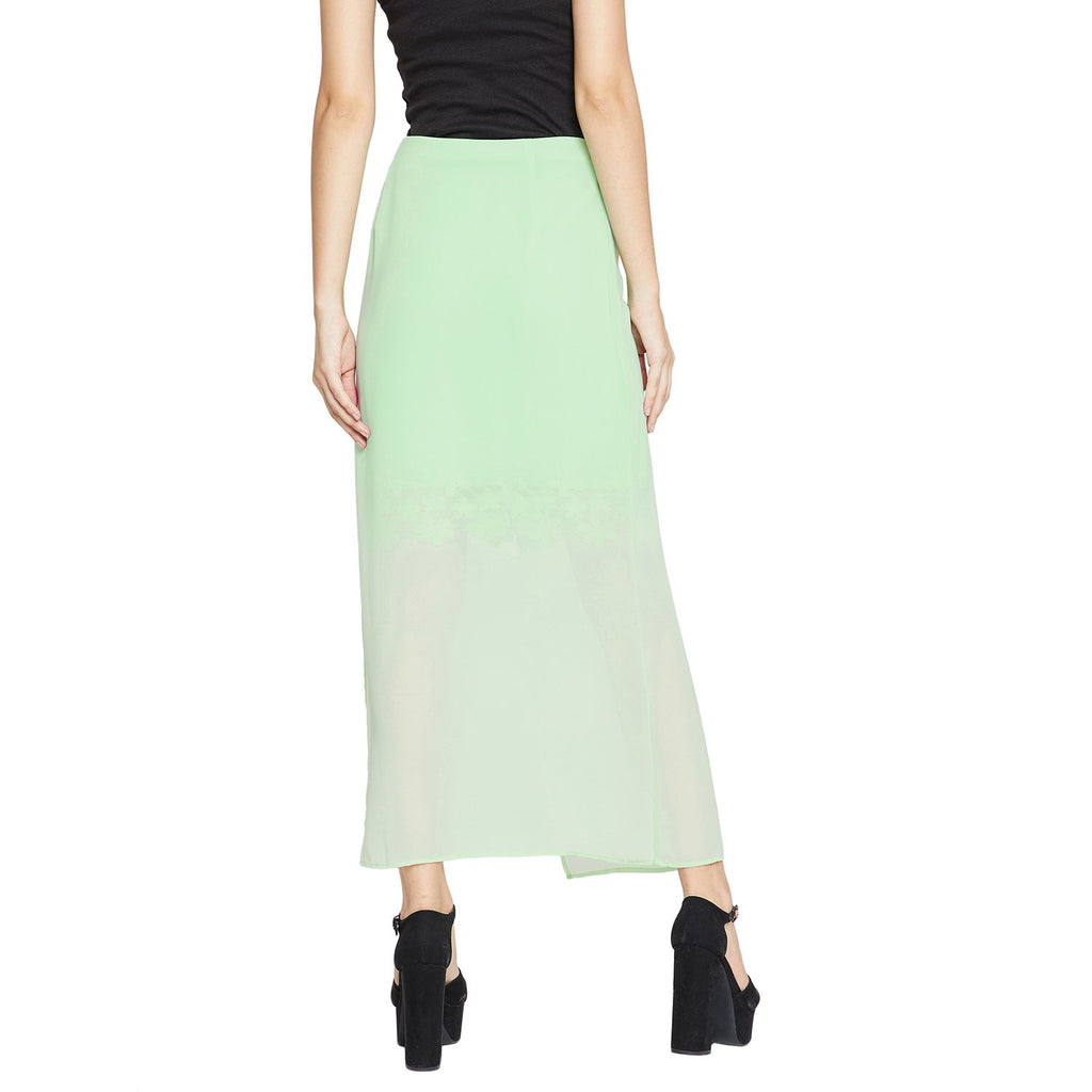 Madame Women Mint Solid Skirt
