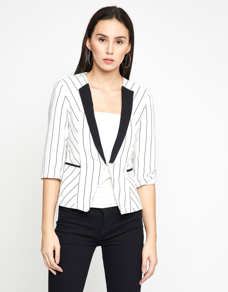 Madame Womens Off White Blazer