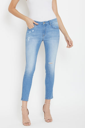 Madame Denim Ice Blue Denim Jeans For Women