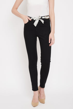 MADAME BLACK DENIM JEANS For women