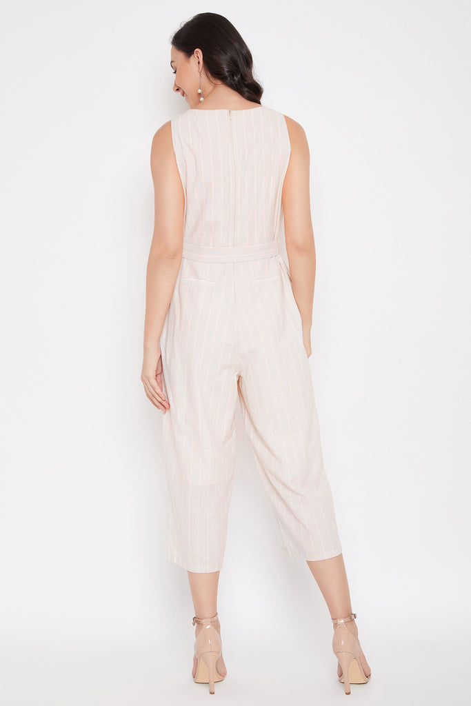 Madame Beige Jump Suits For Women