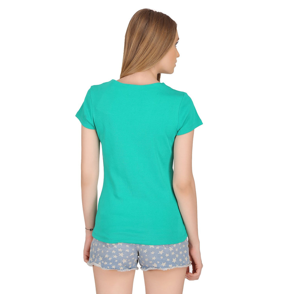 Madame Women Green Solid Top