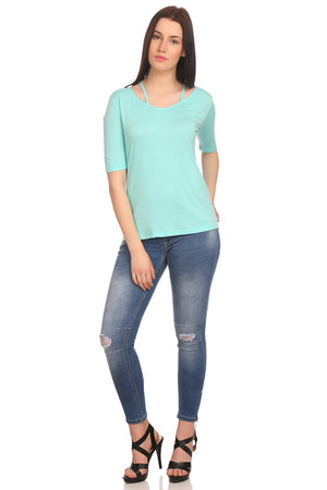 Madame Women Aqua Top
