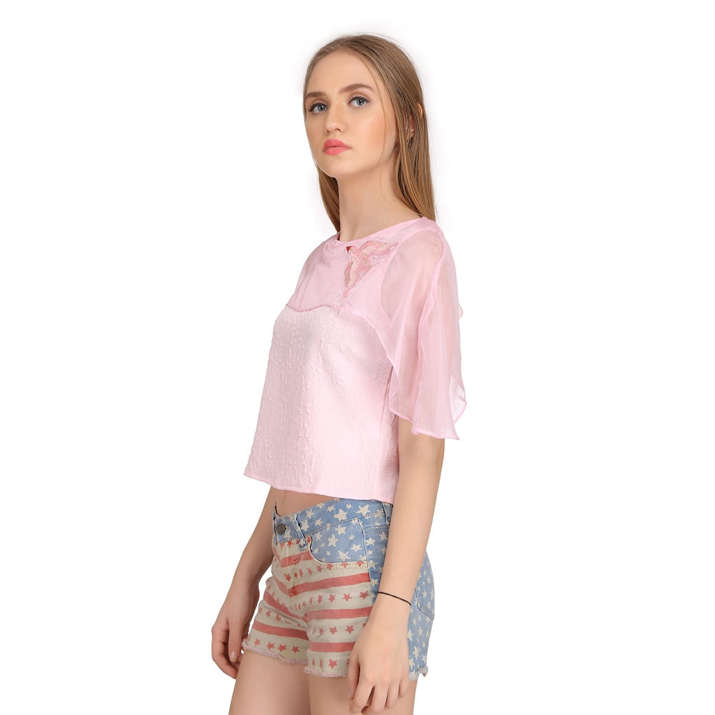 Madame Womens Pink Top H/S