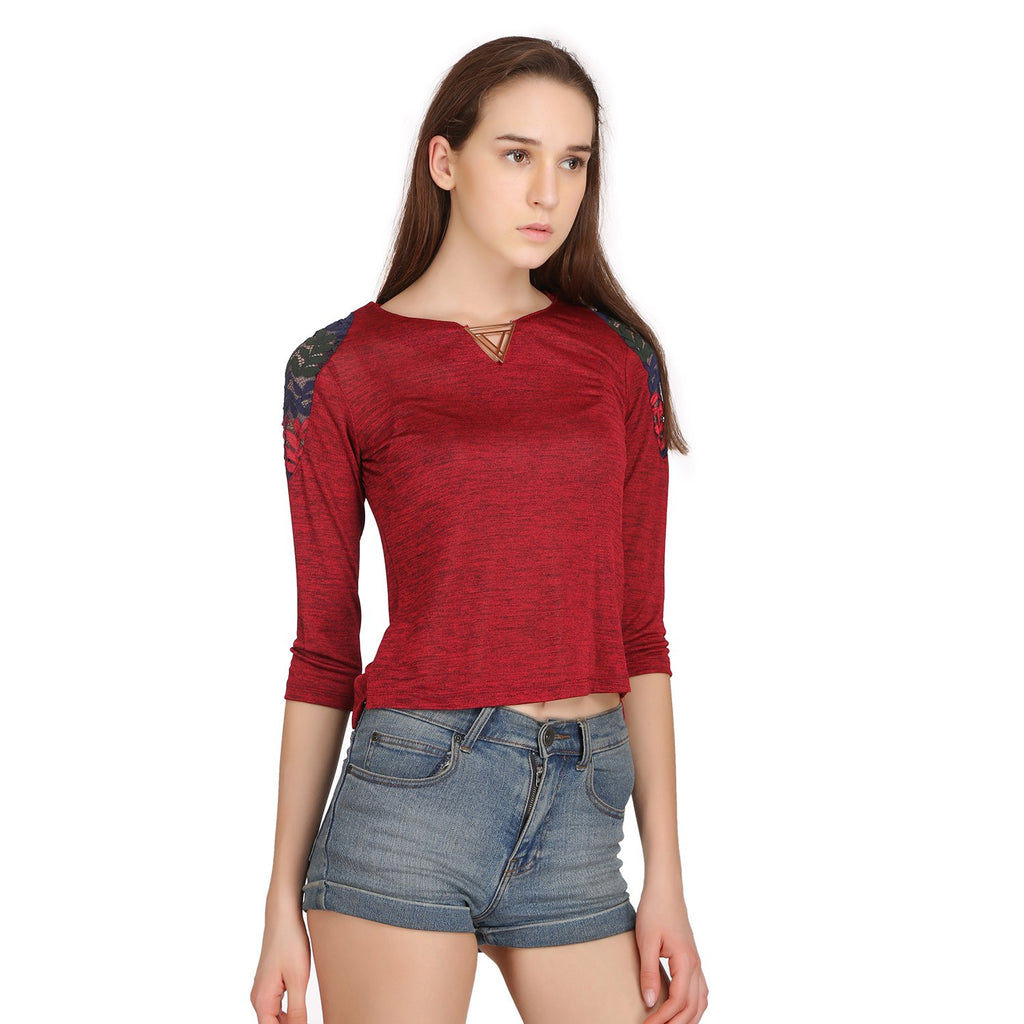 Madame Womens Red Top F/S