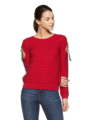 Madame Womens Red Sweater