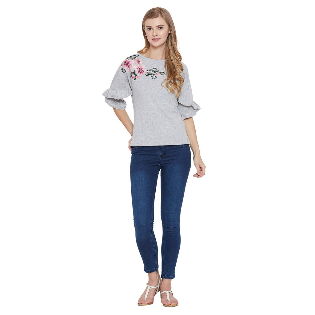 Madame Grey Casual Top