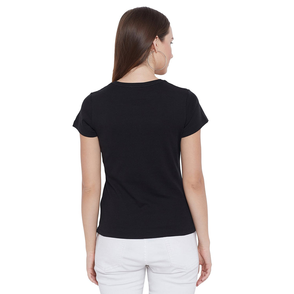 Madame Black Half Sleeve Top