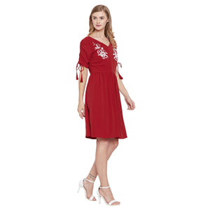 Madame Red Embroided Dress