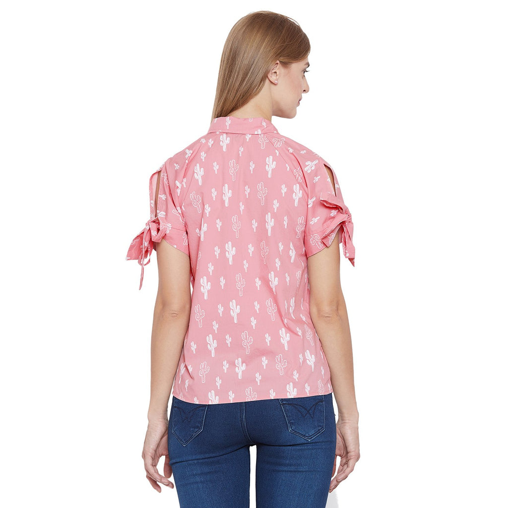 Madame Dusty Pink Embroided Textile Top