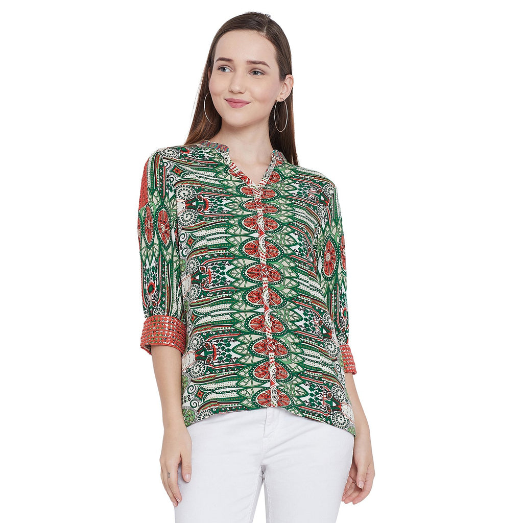 Madame Printed Textile Top