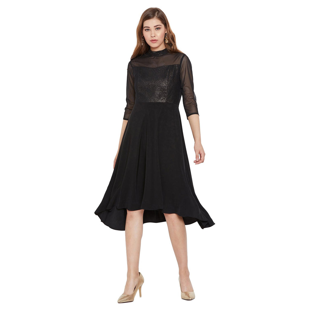 Madame Black Solid Dress