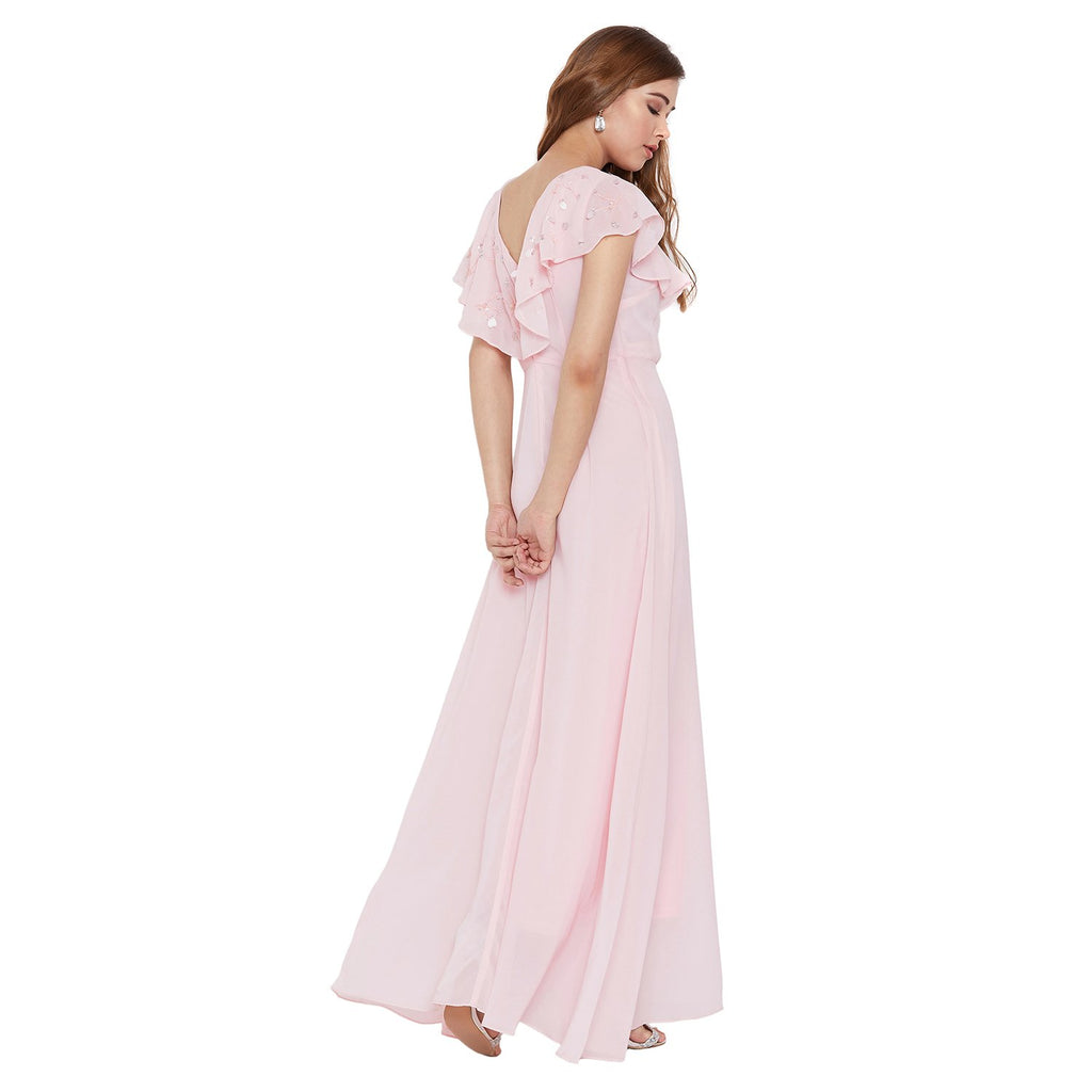 Madame Pink Solid Dress