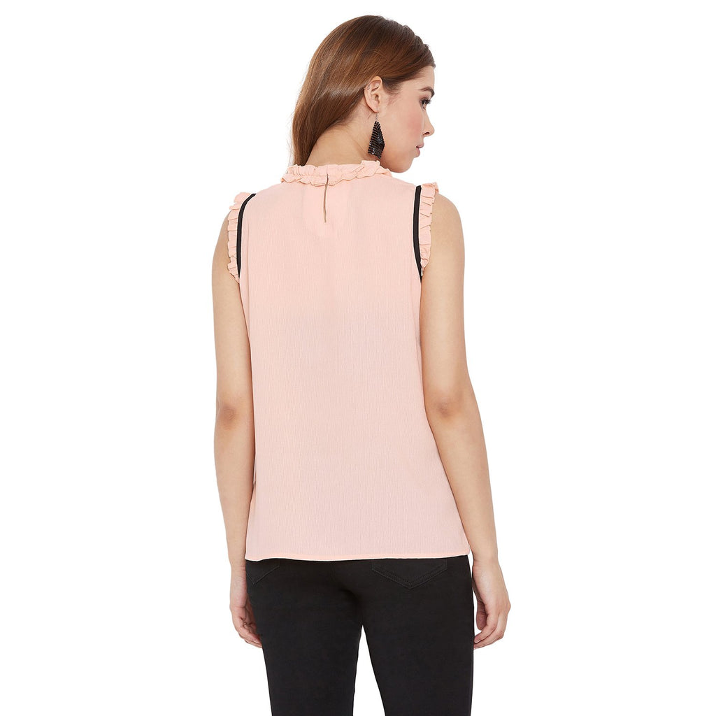 Madame Peach Solid Textile Top