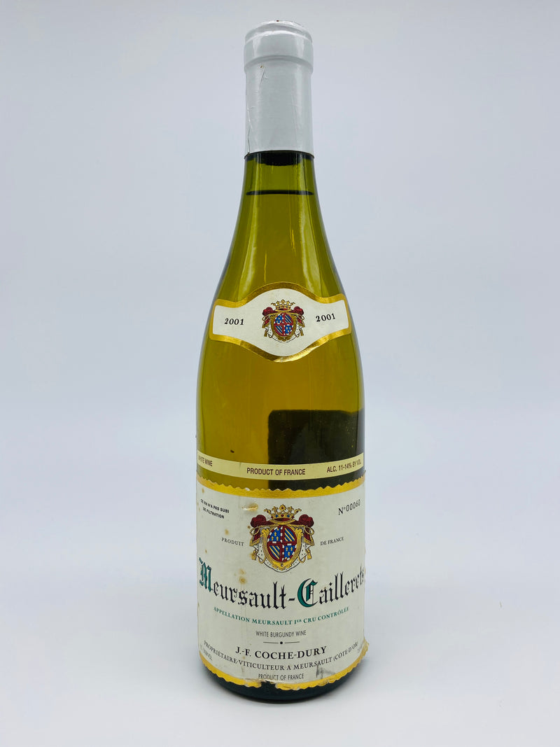 Coche Dury Meursault Caillerets 2001 750mL (Slightly Soiled Label)