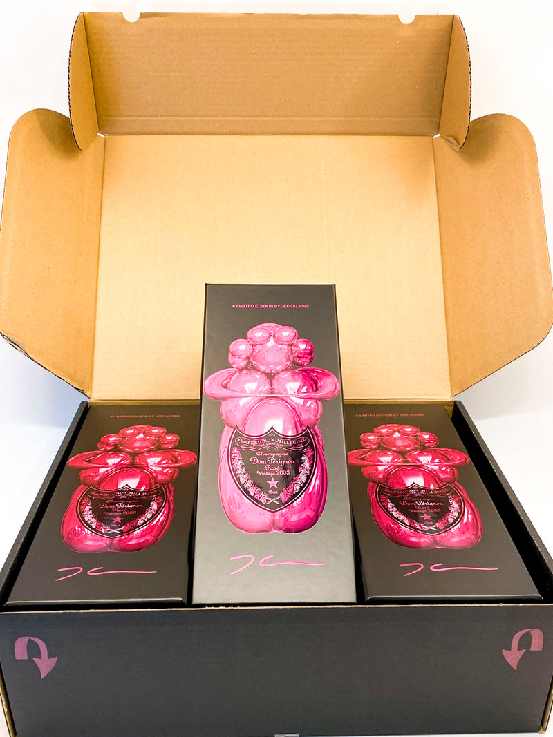 Dom Perignon Rose Limited Edition Jeff Koons 2003 3-Pack OC 750mL