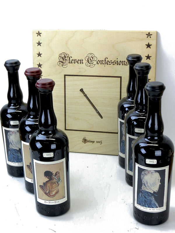"Sine Qua Non -SQN- Eleven Confessions 17th Nail & Naked Truth ""4 Nail & 2 Naked"" Assortment 2005 6-Pack OWC 750mL"