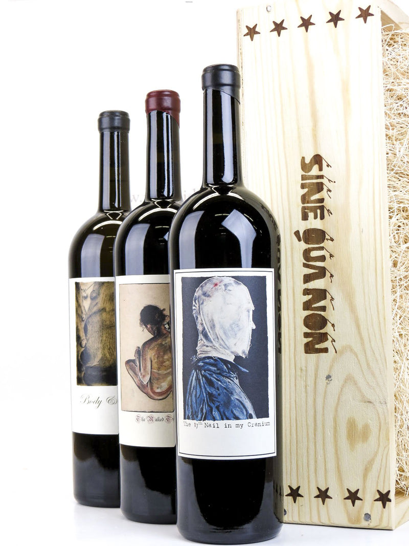 Sine Qua Non (SQN) Eleven Confessions 17th Nail, Naked Truth & Body and Soul 2005 3-Pack OWC 1.5L