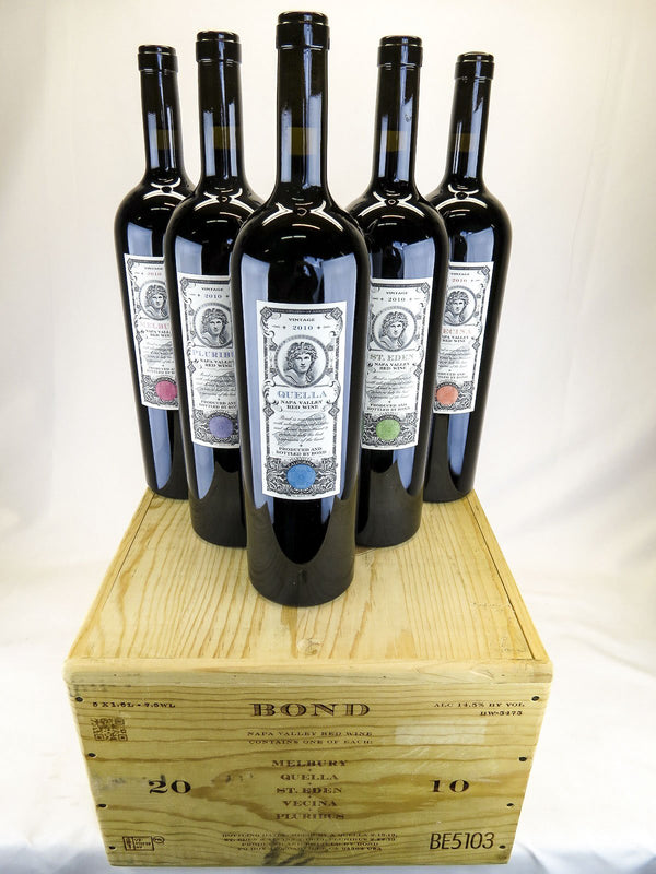 Bond Assortment Case 2010 5-Pack OWC 1.5L (Melbury, St. Eden, Pluribus, Quella, Vecina)