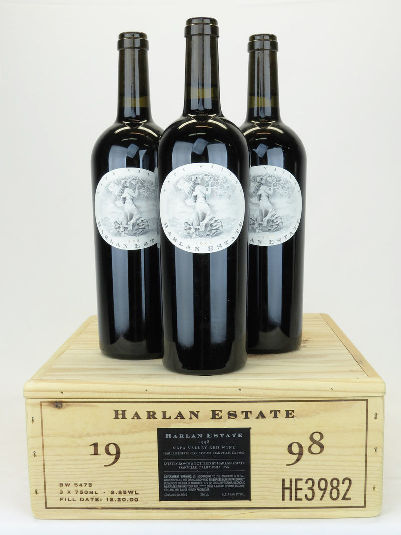 Harlan Estate 1998 3-Pack OWC 750mL