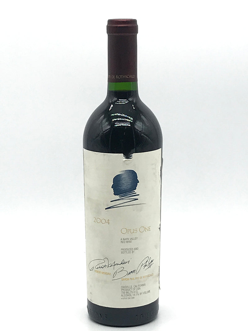 Opus One 2004 750mL (Torn Label Label)