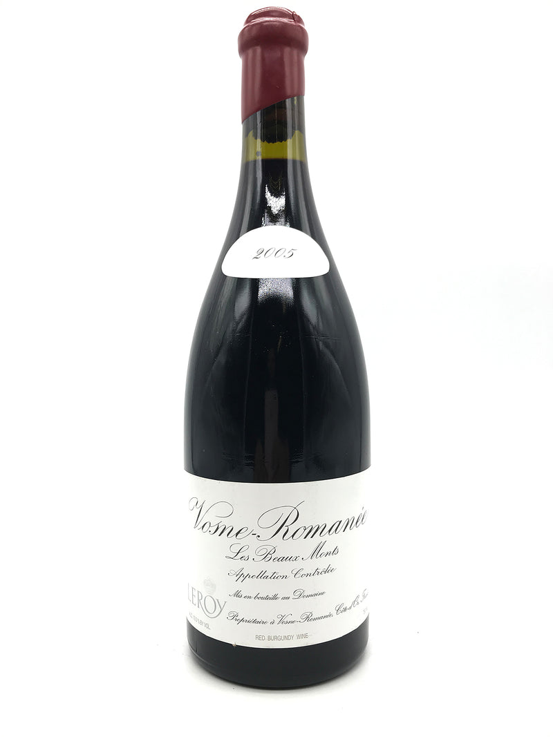 Leroy Vosne Romanee Beaux Monts 2005 750mL (Chipped Wax Capsule)