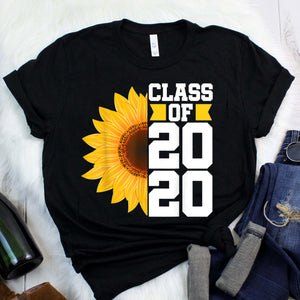 Class of 2020 High School Graduation Senior Sunflower Gift T-Shirt